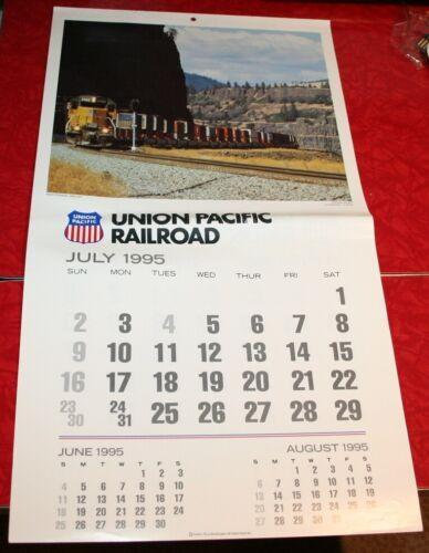 1995 UNION PACIFIC RAILROAD UPRR WALL CALENDAR