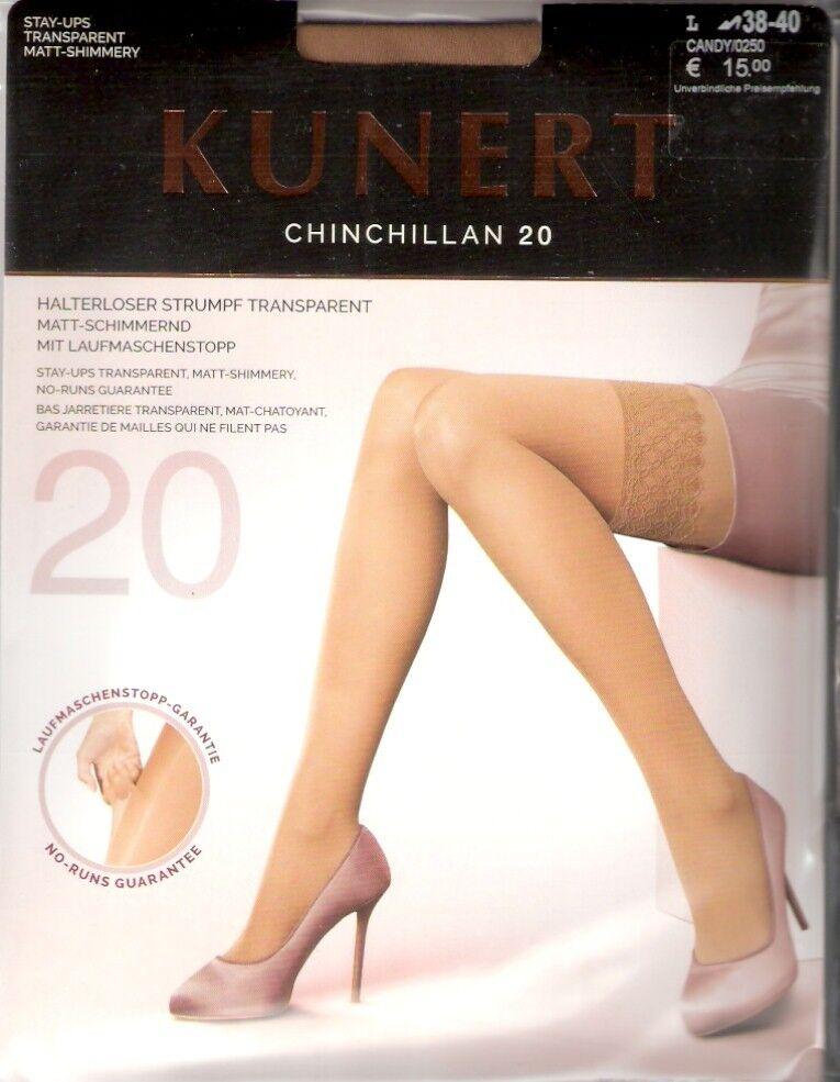 Kunert CHINCHILLAN 20 - halterlose Strümpfe Gr. I - III schwarz, hautfarben