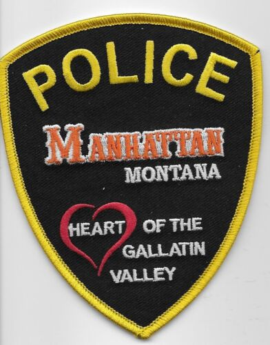 Manhattan Police State Montana MT colorful