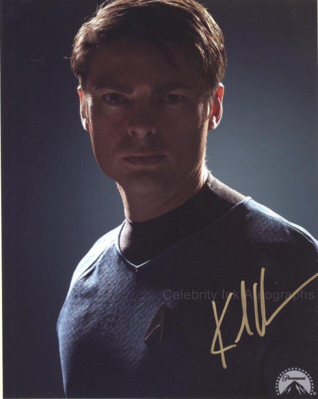 "KARL URBAN as Dr. ""Bones"" McCoy - Star Trek GENUINE AUTOGRAPH UACC (R17195)"