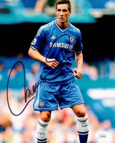 Chelsea FC Fernando Torres Autographed Signed 8x10 Photo JSA COA #5