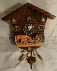 Nearly NEW Kuckulino Black Forest Clock Swiss House by Trenkle Uhren