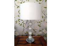 Large Lamp: Silver/white/Chrome