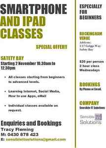 Smartphone/iPad Classes starting in Rockingham Rockingham Rockingham Area Preview