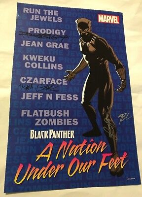 Marvel Nation Under Our Feet Black Panther Poster NYCC Signed Prodigy Mobb Deep