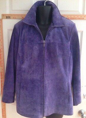 Bernardo For Nordstrom Women's 1X Purple Suede Jacket ()