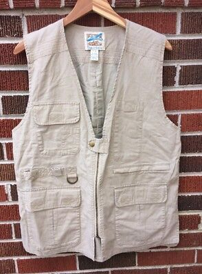 Men's TravelSmith Vest Photography Camping Hiking Bird Watching  Utility Medium