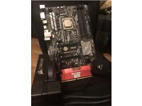 I7 7700k + ASUS motherboard + 16GB Corsair LPX DDR4 3200mhz Ram + Corsair watercooler