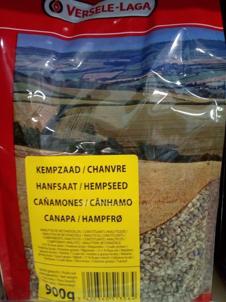 semi di canapa destinati all'alimentazione di uccelli, 900 grammi