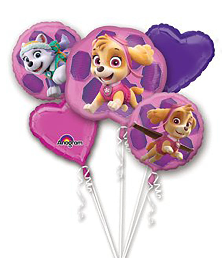 Girl PUPS SKYE & EVEREST PAW PATROL Foil Balloon Bouquet Bir