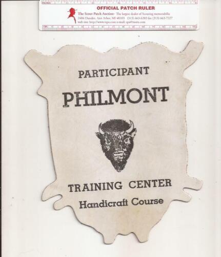 Philmont Training Center Handicraft Course Participant Leather Back Patch