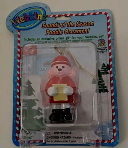 WEBKINZ ~ Sounds of the Season POODLE Ornament ~ Series 1 ~ GANZ ~ NEW with Code