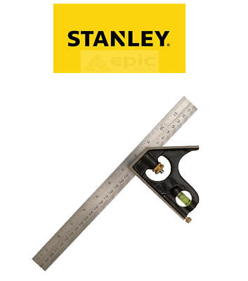 "Stanley Rabone 12"" 300mm Engineers Cast Iron Stock Combination Square 046151"