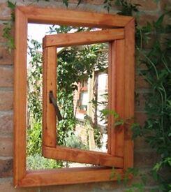 'Open Window' Garden Mirror - Outside