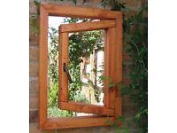 Parallax 'Illusion' Open Window Garden Mirror