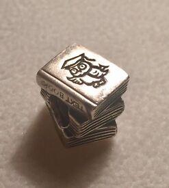 Genuine Pandora Silver books charm