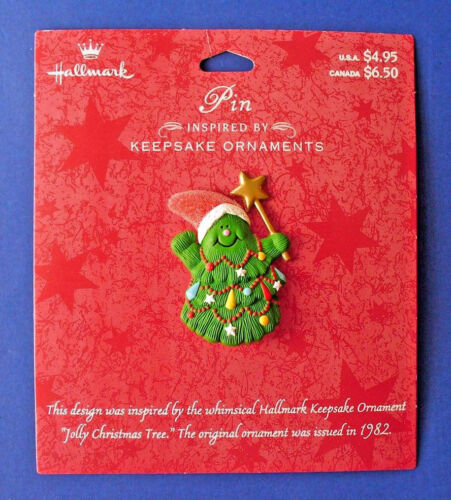 Hallmark PIN Christmas Vintage TREE JOLLY Gumdrop Ornament of