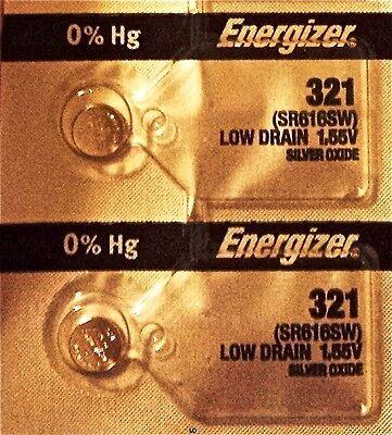 ENERGIZER 321 SR616SW SR616 SILVER OXIDE (2piece) Watch Battery AuthorizedSeller