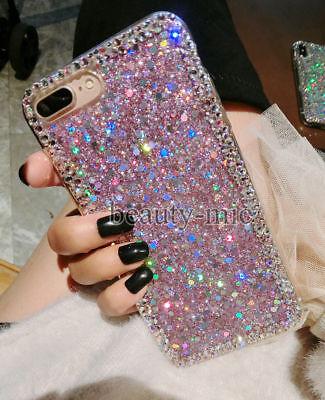 LG Stylo 5 Girl's Bumper Bling Diamond Rhinestone Glitter Silicon Case Cover US