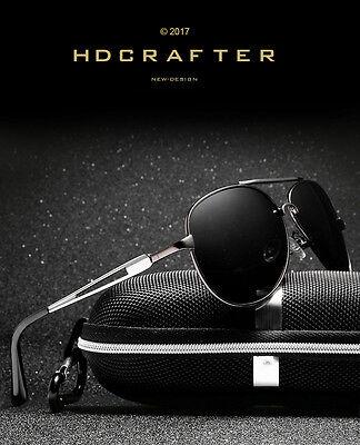 Black Polarized Aviator Men Glasses Outdoor Sports Eyewear Driving UV - Aviator Glasses