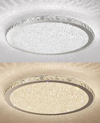 Modern Bling Crystal Round Shade Flush Mount Light Room Office LED Ceiling Lamp Modern Crystal Flush