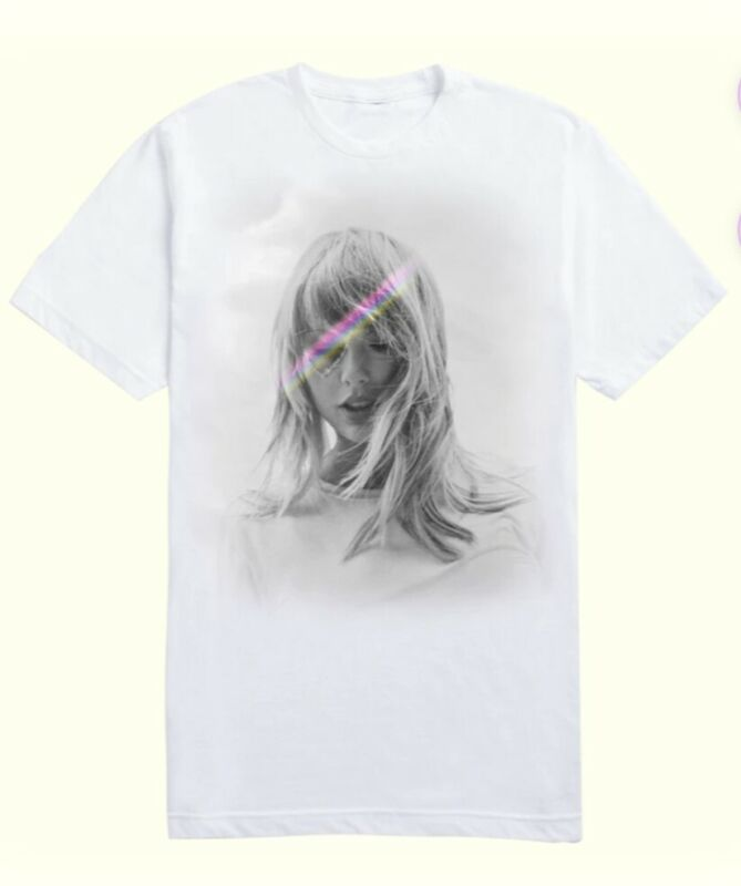 Taylor Swift LOVER T-SHIRT WITH COLOR DETAIL - Size LARGE - Sold Out!