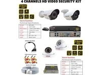 4 Channels HD Video Security Kit