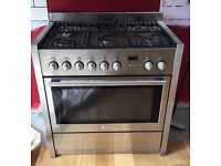 Silver Freestanding gas oven