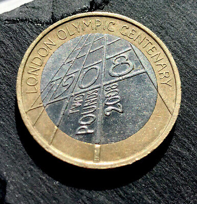 2008 Centenary London Olympic Games 1908-2008-Great circulated £2 coin.