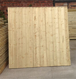 🌳Tanalised Wooden Straight Top Fence Panels ~ High Quality
