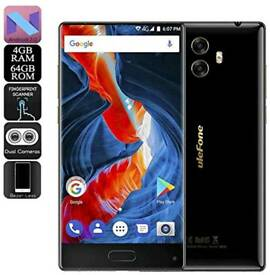 Ulefone MIX, 4G Smartphone 5.5 inch Android 7.0 4GB RAM 64GB ROM, NEW, BLACK