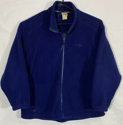 LL Bean Sherpa Deep Pike Fleece Jacket Women Large Petite Blue 90s USA Made, used for sale  Shipping to South Africa