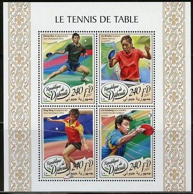 DJIBOUTI 2017 TABLE TENNIS SHEET MINT NH