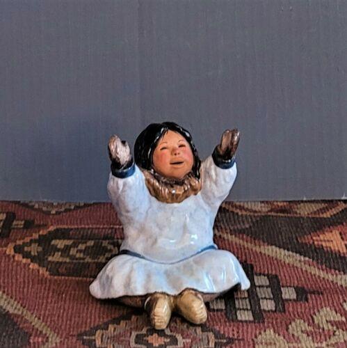 C. Alan Johnson Alaska Inuit Little Girl Figurine Nellie 1991