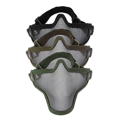 Mesh Maske (Steel Mesh Half Face Mask Guard Protect For Paintball Airsoft Game Hunting ME)