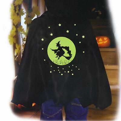 Witch Vampire Cape Spooky Stuff Kids Black Boy Girl Halloween Costume Accessory - Halloween Spooky Stuff