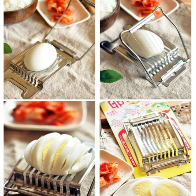 Stainless Steel Boiled Egg Slicer Cutter Fruit Vegetable Chopper Kitchen GA
