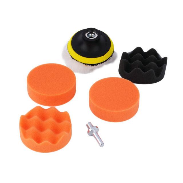 3 inch Polishing Sponge Pad Kit For Car Auto Polisher + M10 Drill Adapter UO