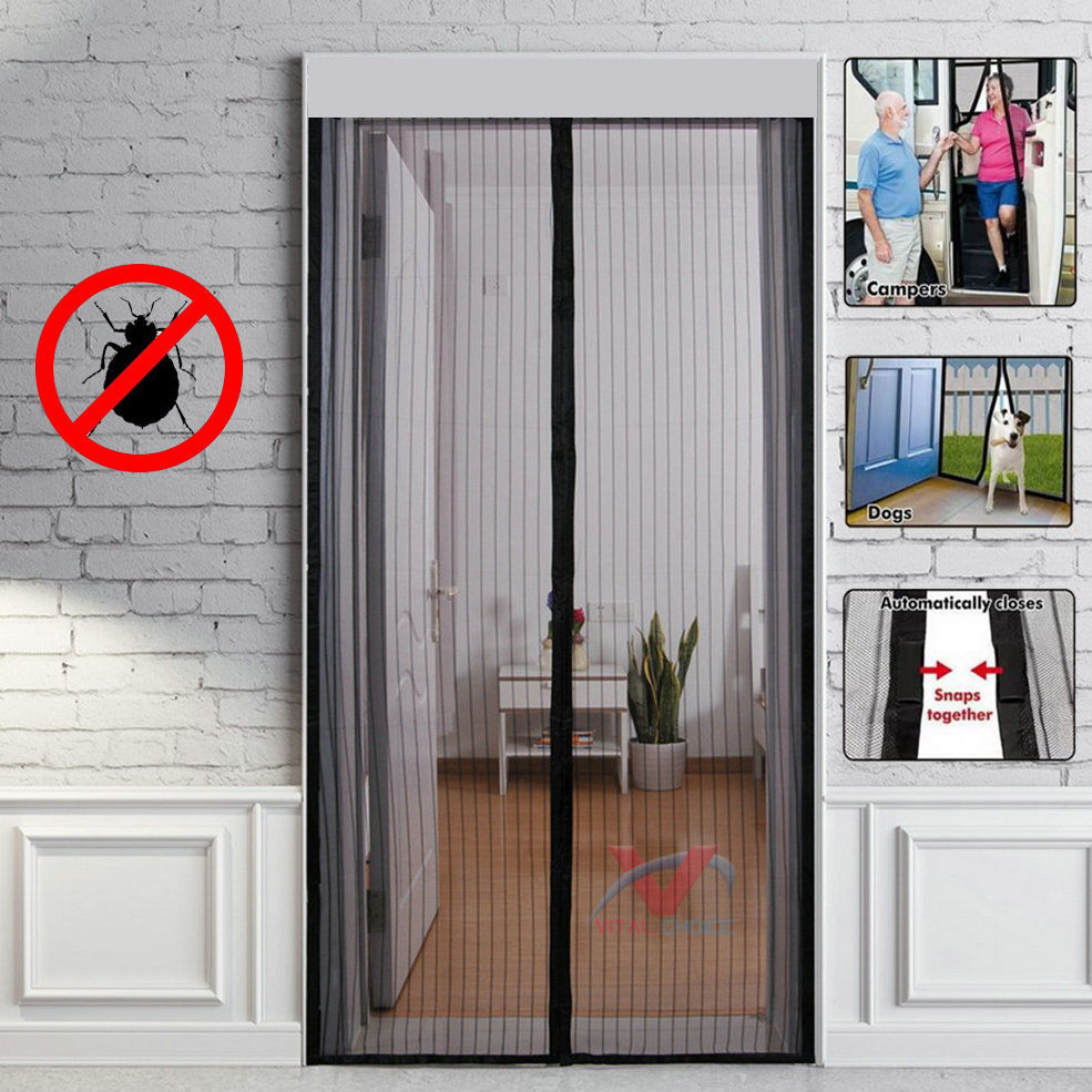 Magnetic Curtain Magic Door Mesh Fastening Hands Free Fly Bug Insect