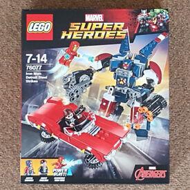Lego 76077 Marvel Super Heroes Iron Man Detroit Steel - Brand New