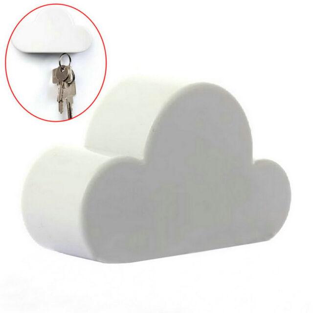 Fashion White Creative Novelty Cloud Shape Magnetic Key Holder Home Keychain GA