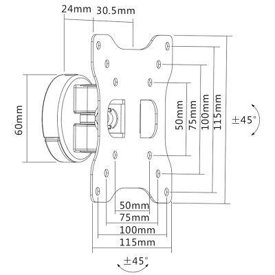 """Full-Motion Tilt Swivel LCD LED Monitor TV Wall Mount 19 20 21 22 23 24 25 27"""""""