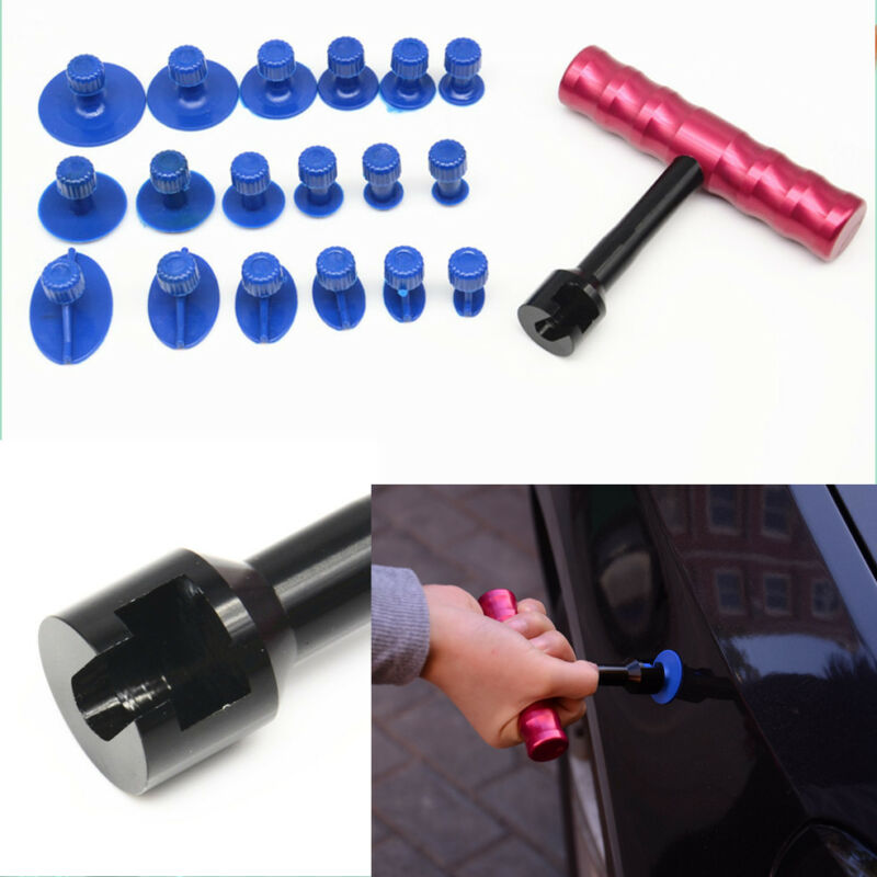 Paintless Dent Repair Removal Hail Dings Remover Hand T-Bar Car Puller Tool Kit