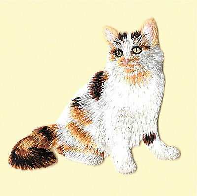 Embroidered Magnet (Cat Lovers Magnet - Calico Cat - Kitten - Embroidered)
