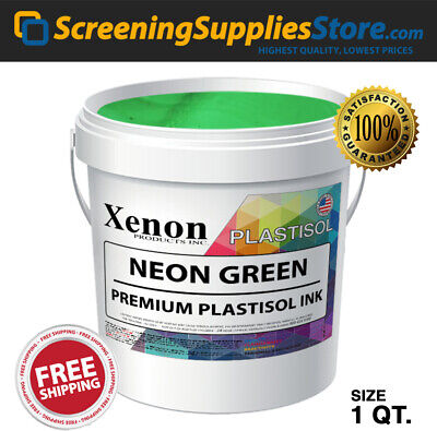 Xenon - Neon Green Plastisol Ink For Screen Printing - 1 Quart - 32oz