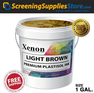 Xenon - Light Brown Plastisol Ink For Silk Screen Printing - 1 Gallon 128oz