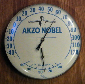 Akzo Nobel advertising thermometer