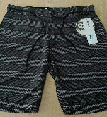 NWT Men's SPLIT Swim Board Shorts Trunks size 33 Color Black $49.50
