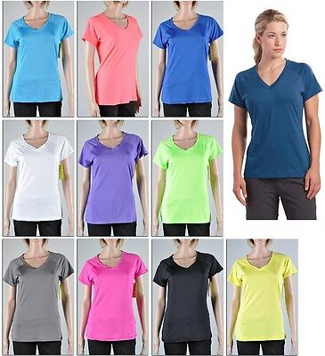 Women's Sport T-Shirt Tee Athletic V Neck Quick Dry Top Gym Yoga Dance Running (Dance Womens V-neck T-shirt)