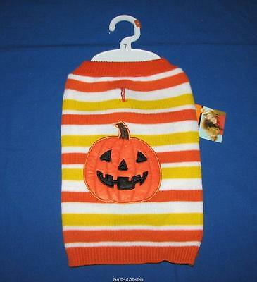 Martha Stewart Candy Corn Pumpkin Dog Pet Halloween Sweater Costume](Corn Dog Costume Halloween)